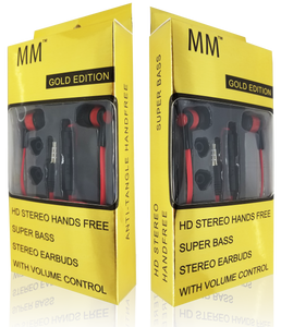 MM Gold Edition HQ Handsfree Red and Black