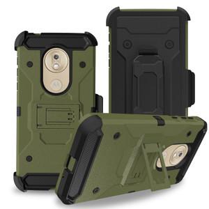 Motorola G7 Play MM Silo Rugged Case Army Green