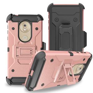 Motorola G7 Play MM Silo Rugged Case Rose Gold