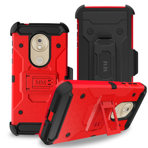 Motorola G7 Play MM Silo Rugged Case Red