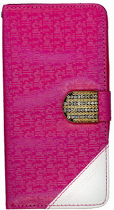 Samsung Note 5 Design Wallet with Bling Pink