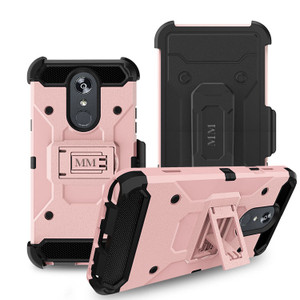 LG Stylo 5  MM Silo Rugged Case Rose Gold