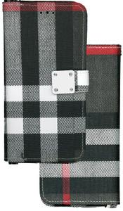 Motorola G7 Play MM Portfolio Wallet Gray Plaid