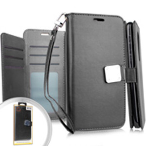 Samsung A10E Premium Folio Wallet Black