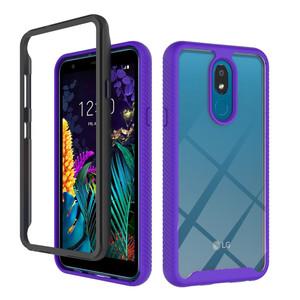 LG Stylo 5  MM Premium Rugged Clear Case Purple