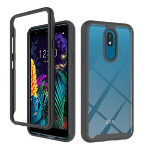 Motorola G7 Play  MM Premium Rugged Clear Case Black