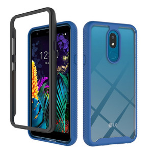 Motorola G7 Play  MM Premium Rugged Clear Case Navy