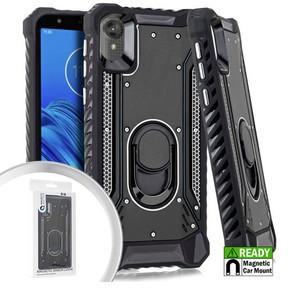 Motorola E6  MM Magnetic Rugged Case W KS Black