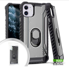 iPhone 11 MM Magnetic Rugged Case W KS Silver