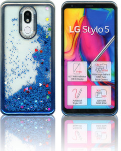 LG Stylo 5 MM Electroplated Water Glitter Silver-Blue