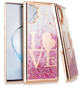 Samsung Galaxy Note 10 Plus MM Electroplated Water Glitter Rose Gold