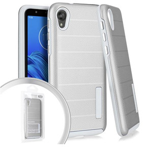 Motorola E6 MM Deluxe Brushed case Silver
