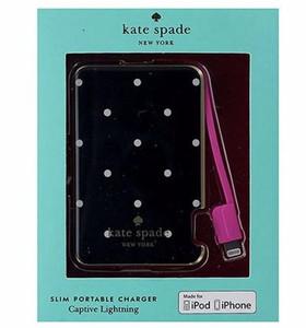Kate Spade Lightning Slim Portable Charger Polka Dots