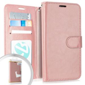 Motorola E6  Folio Wallet Rose Gold