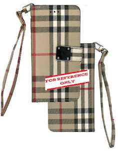 Iphone 11 MM Portfolio Wallet Plaid Brown