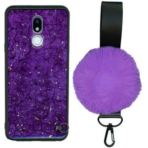 Motorola G7 Play  W/Kick With Pom Pom Purple