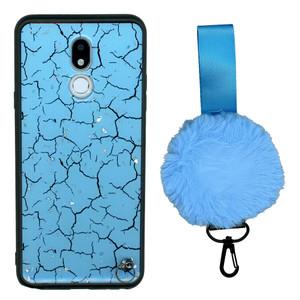 Motorola G7 Play  W/Kick With Pom Pom Blue