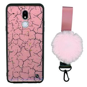 Motorola G7 Play  W/Kick With Pom Pom Rose Gold