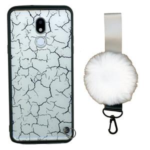 Motorola G7 Play  W/Kick With Pom Pom White