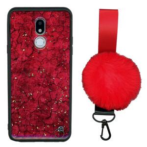 Motorola G7 Play  W/Kick With Pom Pom Red