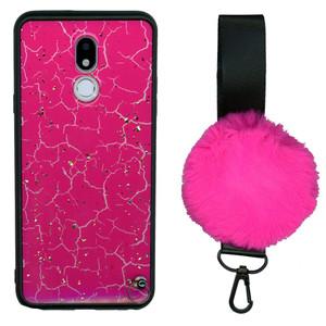 Motorola G7 Play  W/Kick With Pom Pom H.Pink