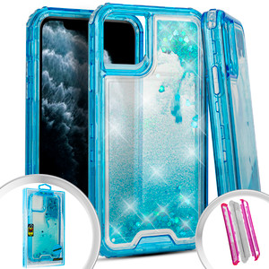 Iphone 11 Water Glitter Hybrid Teal