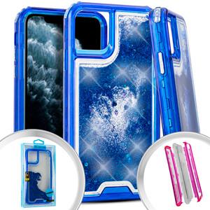 Iphone 11 PRO Water Glitter Hybrid Blue