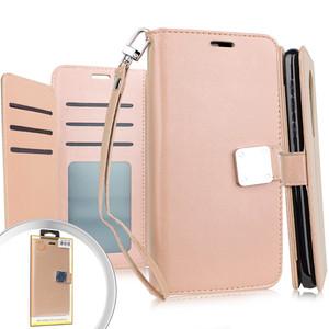 Alcatel 3V Premium Folio Wallet Rose Gold