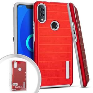 Alcatel 3V Deluxe Brushed Case Red