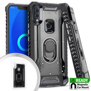 Alcatel 3V MM Magnetic Rugged Case W KS Black