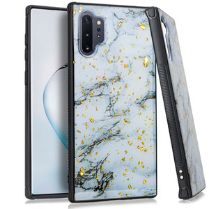 Samsung Note 10 Pro/Plus MM Marble Case Chrome White