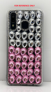 Iphone 11 3D Bling Silver & pink
