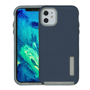 Iphone 11 Deluxe Brushed Case Navy Blue