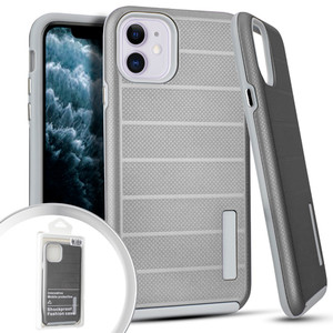Iphone 11 Deluxe Brushed Case Silver