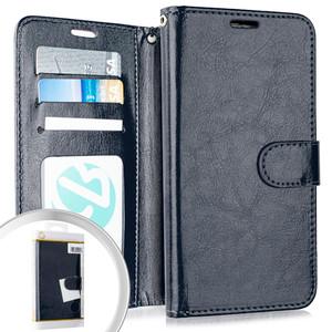Lg Aristo 4+/Escape Plus Folio Wallet Navy Blue