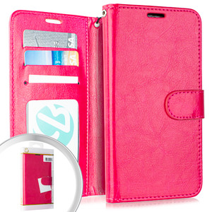Lg Aristo 4+/Escape Plus Folio Wallet Hot Pink