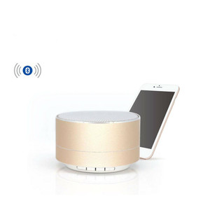 Wireless Bluetooth Speaker Y-B101 With Led Gold