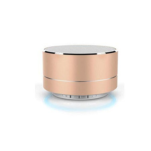 Wireless Bluetooth Speaker Y-B101 With Led Rose Gold
