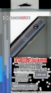 Random Order Portable Power Bank Charger 2800 mAh - Retail Packaging - Gray