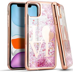 Iphone 11  Water Glitter Case Love