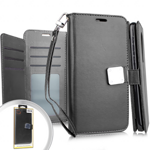 Samsung A01 Premium Folio Wallet Black