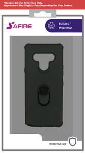 Lg Stylo 6 MM Ring Hybrid Case Black