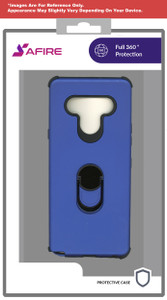 Lg Stylo 6 MM Ring Hybrid Case Blue