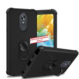 Motorola G Stylus MM Ring Hybrid Case Black