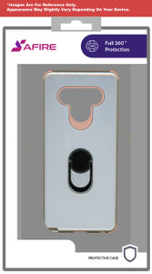 Motorola G Stylus MM Ring Hybrid Case Rose Gold