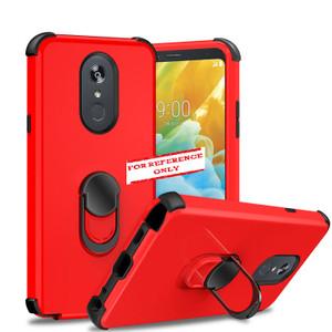 Motorola G Stylus MM Ring Hybrid Case Red