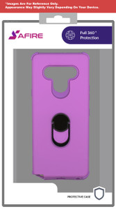 Motorola G Stylus MM Ring Hybrid Case Purple