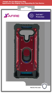 Lg Stylo 6 MM Magnetic  Rugged Case W/Kickstand Red