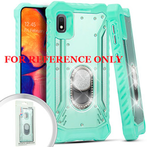 Samsung A01 MM Magnetic Rugged Bling Case W ks Teal