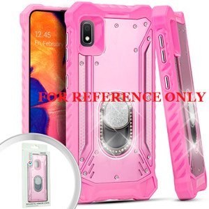 Samsung A51 MM Magnetic Rugged Bling Case W ks Pink